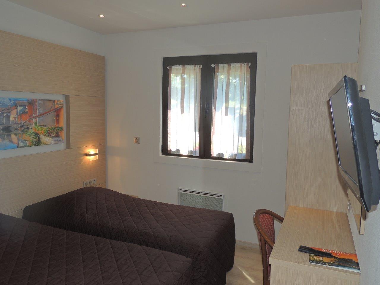 Chambre d'hôtel Twin, deux lits simples